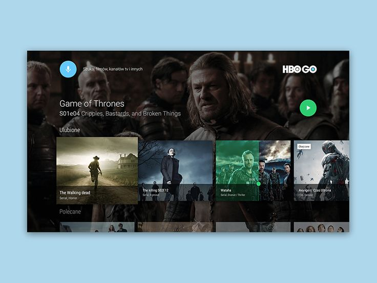 https://dribbble.com/shots/2130928-Hbo-Go-android-tv-concept