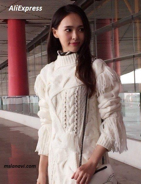 Белое вязаное платье из АлиЭкспресс - СХЕМЫ #ВязаниеСпицами http://mslanavi.com/2016/03/beloe-vyazanoe-plate-iz-aliekspress/