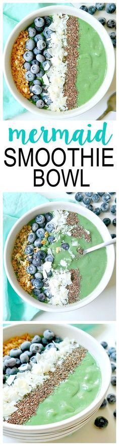 Start your day off with this powerhouse breakfast! This Mermaid Smoothie Bowl recipe is vegan and dairy-free with no added sugar or sweetener and is packed with many healthy nutrients to get your day started off right!