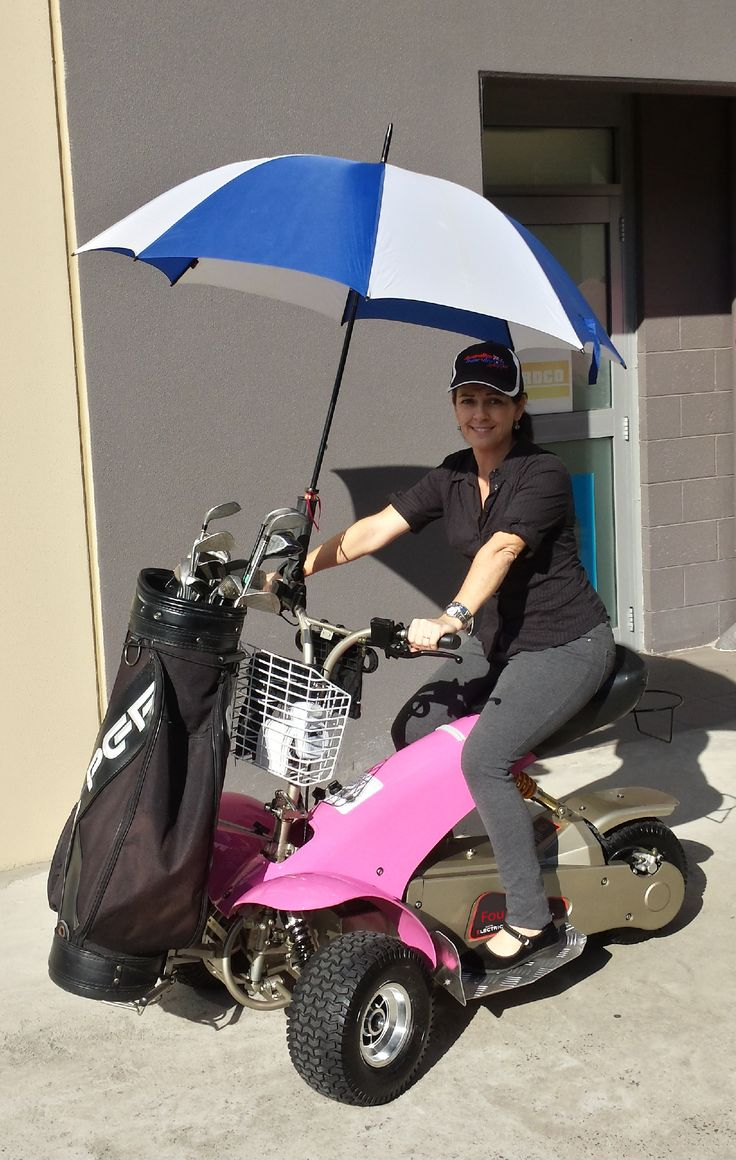 Bec loves the pink Golf Cruiser, she may need to find a pink umbrella to complete the look!  If you'd like a trial of our single person electric golf cart, called the Fourstar Golf Cruiser Trike, then please call us on 1800 554 827 or visit our our product page at www.electricvehiclesolutions.com.au/products/the-fourstar-cruiser/the-fourstar-golf-cruiser/ or visit our parent company Active Mobility Scooters at www.activescooters.com.au.We're at 43 Upper Brookfield Rd, Brookfield (Appoint…