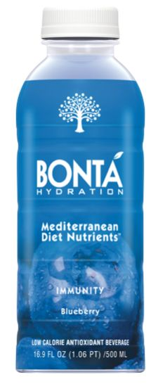 Bontá Immunity blend includes antioxidants and polyphenols from blueberries, pomegranates, and olive fruit.  #immunity #mediterraneandiet #blueberry