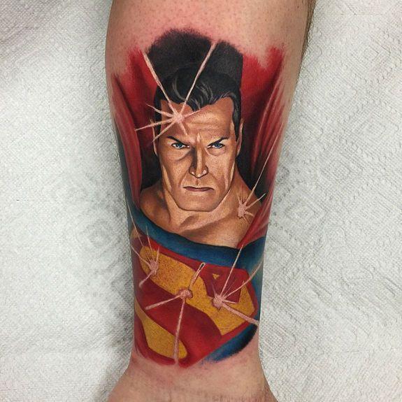 Alex Ross superman tattoo