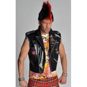Déguisement punk adulte, deguisement veste punk Imitation cuir avec logos brodés en tissu qualité deluxe de Magic by freddy's. http://www.baiskadreams.com/1522-deguisement-veste-punk-deluxe-adulte.html