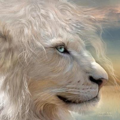White Lion! This does not look real to me, but painted, thats why hes not on the Aminal board