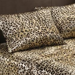 @Overstock - This satin polyester sheet set features a distinguishing cheetah print that adds a dynamic look to the bedroom. The full-size 90-gram sheets are naturally wrinkle-free with a 14-inch pocket depth on the fitted sheet.http://www.overstock.com/Bedding-Bath/Premier-Comfort-Cheetah-Polyester-Textured-Satin-6-piece-Full-size-Sheet-Set/6976266/product.html?CID=214117 $34.99