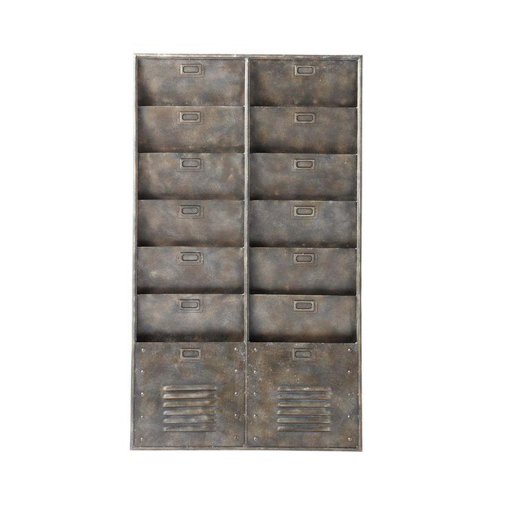Contenitore stile industriale in metallo da parete BARKLEY
