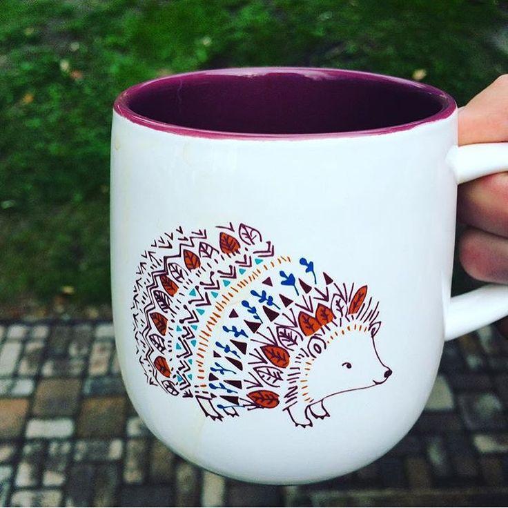 Caribou Coffee Hedgehog Mug
