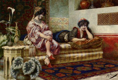 Idle Hours in the Harem, Franz Von Defregger (1835-1921)
