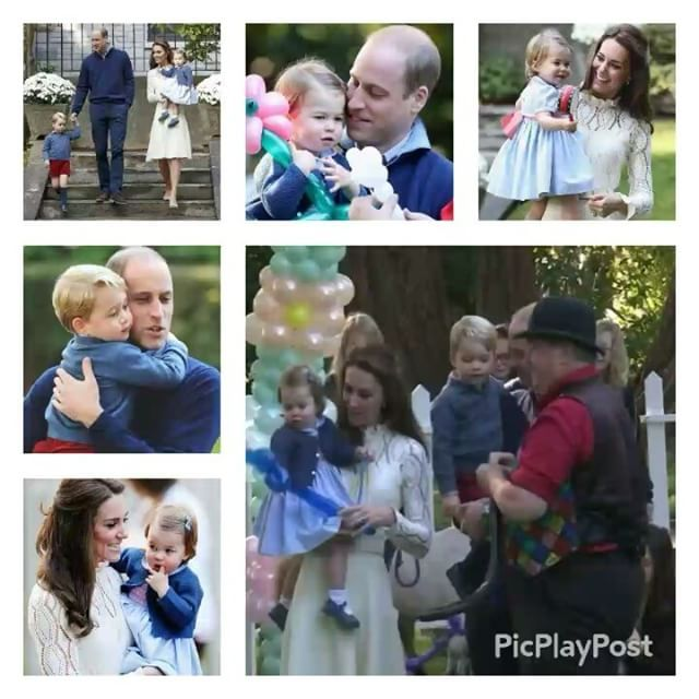 The Duke and Duchess of Cambridge with Prince George and Princess Charlotte of Cambridge at children's party at Goverment House,Victoria…
