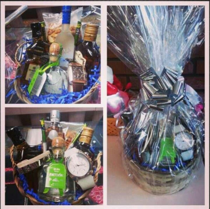 Gift Basket For Him Bottles Range 10 20 Each Add A Watch
