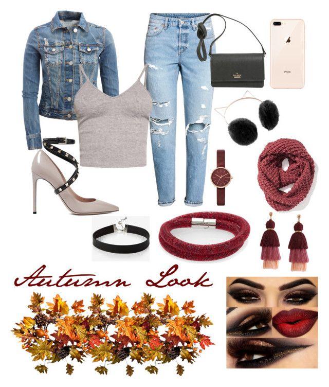 """Fall #1"" by malumasbaby on Polyvore featuring Mode, Aéropostale, H&M, BasicGrey, Valentino, Kate Spade, LC Lauren Conrad, Old Navy, Skagen und Swarovski"