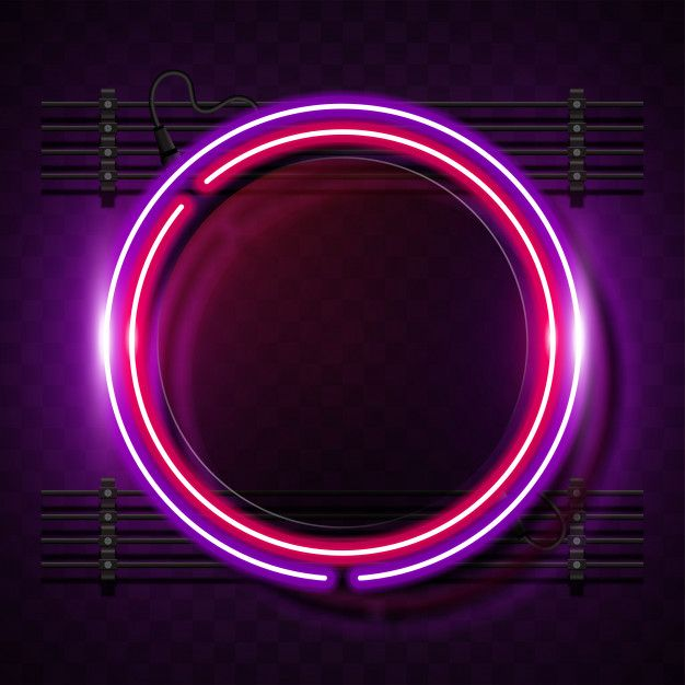 Rounded Neon Banner