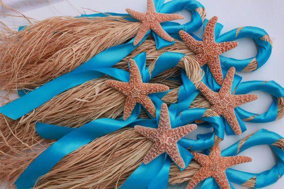 Turquoise Beach Wedding Starfish Chair Hanger by MyWindansea, $12.50