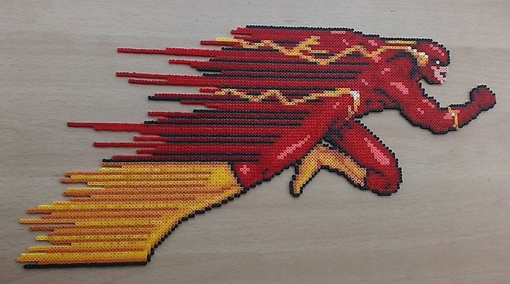 DC The Flash sprite hama mini beads (19 cms x 38 cms) by PixelBeadPictures