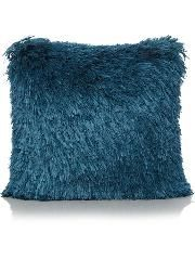 Shaggy Cushion - Blue