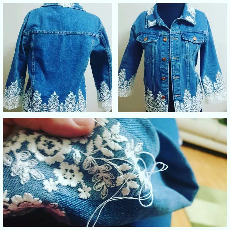 #kot ceket #tasarım #dantel