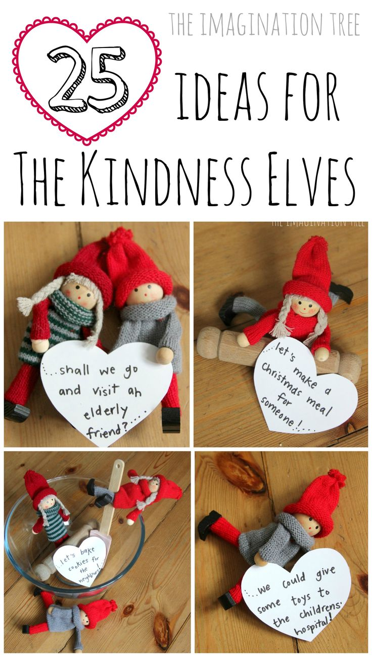 25 Ideas for using the Kindness Elves in the run up to Christmas. This is just lovely!