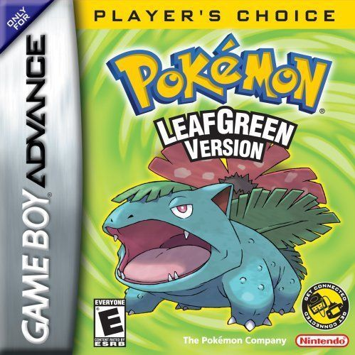 Complete Pokemon Leaf Green Version Players Choice - Game Boy Advance