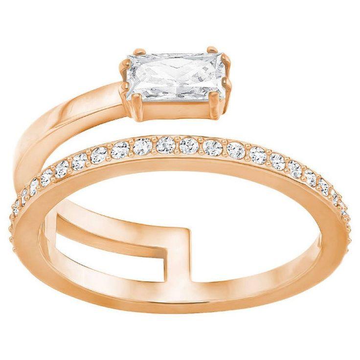 anillo swarovski gray 5286707