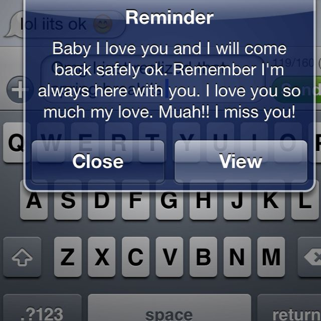 How sweet would it be for them to set up daily reminders on your phone