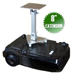 """PCMD All-Metal Projector Ceiling Mount with 8"""" Extension for Optoma EW695UTis by PCMD, LLC.. $74.95. Projector ceiling mounts from PCMD, LLC. offers the consumer a quality ceiling mount at closeout prices. This projector ceiling mount can be rotated 360°, and pitched and rolled in any direction. The mounting plate is CNC machined for precise fitment and made from 6061-T6 aircraft grade aluminum. Unlike universal ceiling mounts, our projector ceiling mounts are specifi..."""