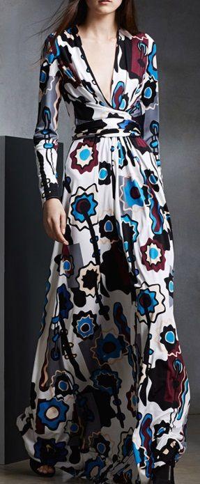 ISSA Florence Silk Jersey Blend Dress