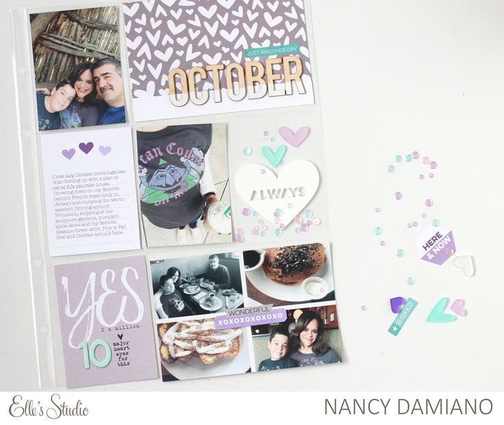 Hey there! Welcome of the Elle's Studio January Kit reveal . I started out by gathering all of my favorite pieces - the frosted hearts ...