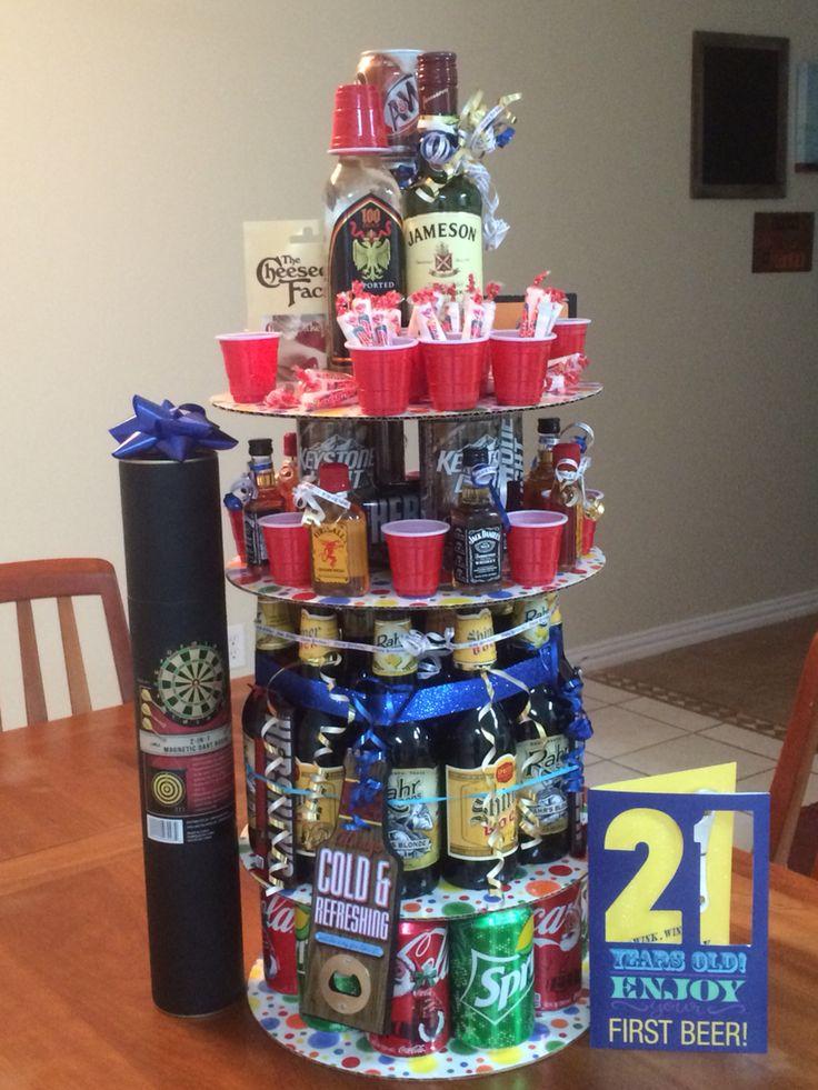 21st Birthday Gift Basket Alcohol : Best st birthday bouquet ideas on