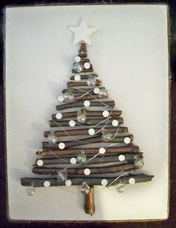 Great rustic Christmas decoration for the bedroom.