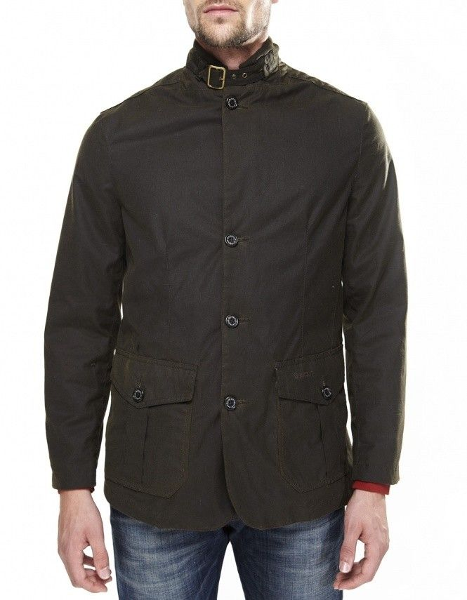 Mens Barbour Lutz Waxed Jacket