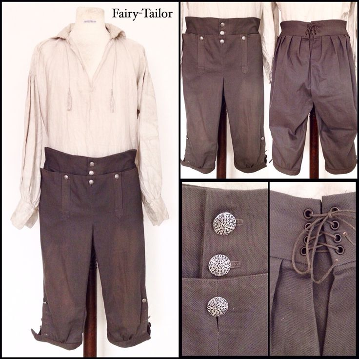 18th century breeches.  Made by Fairy-Tailor