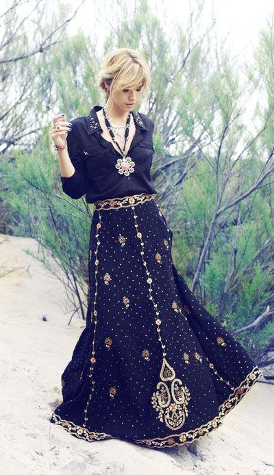 Rapsodia - bordados inspirados na Turquia e na Índia decoram