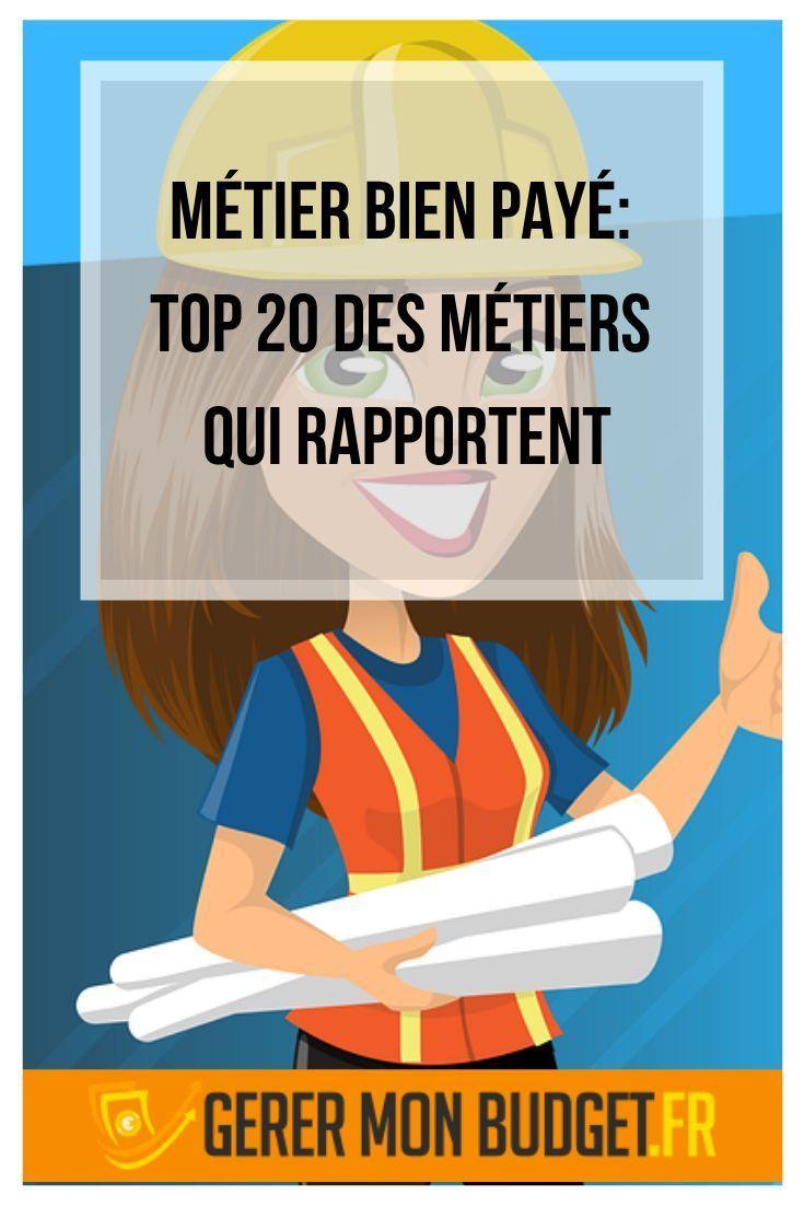 Métier bien payé: top 10 des métiers qui rapportent  Metier qui