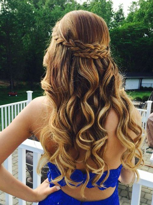 Hoco hair inspo — loving the braided look! <3