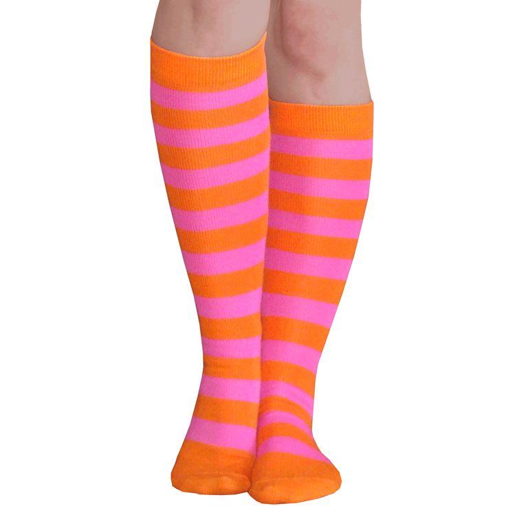 Orange/pink knee socks