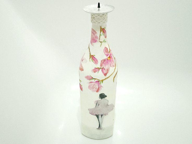 Unikatowy świecznik z recyklingu 2- baletnica w SrokaArt na DaWanda.com