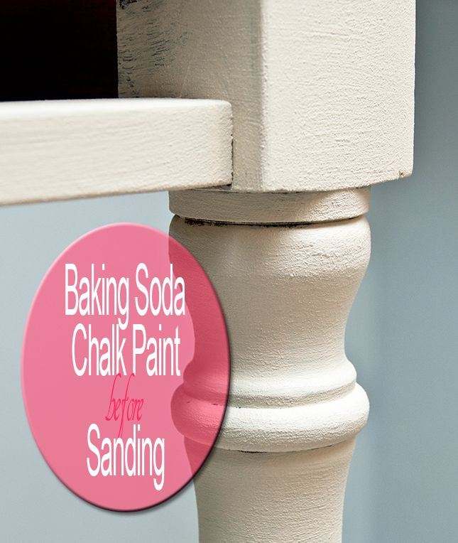 Chalk paint recipe.... Baking Soda Recipe 2/3 cup Paint 1/3 cup Baking Soda Mix really well