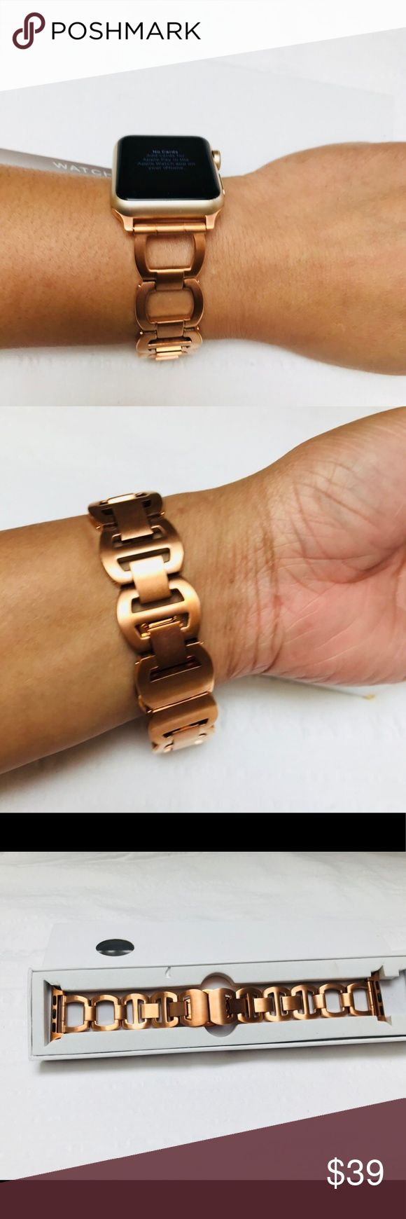 CUZOW Stainless Steel Link Bracelet Gold Strap CUZOW Stainless Steel Link Bracelet Adjustable Flexible Replacement Watch Band for Apple Watch. The metal watch band is made of premium stainless steel, compression molding, fine workmanship, sturdy and durable, It is a perfect companion mixed with fashion, nobility, elegance for Apple Watch series 1 &2.Refined dual fold-over clasp with unique button, The metal clasp firmly closed, prevent loosen automatically, safe and beautiful, and very easy…