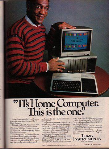 Bill Cosby 80s Ad for a TI Home Computer | Incredimazing ...