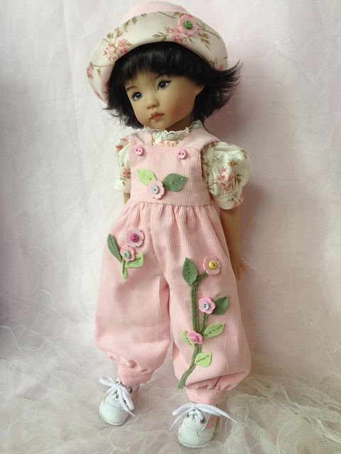 Effner Little Darlings Pink Overalls | Flickr - Photo Sharing!: