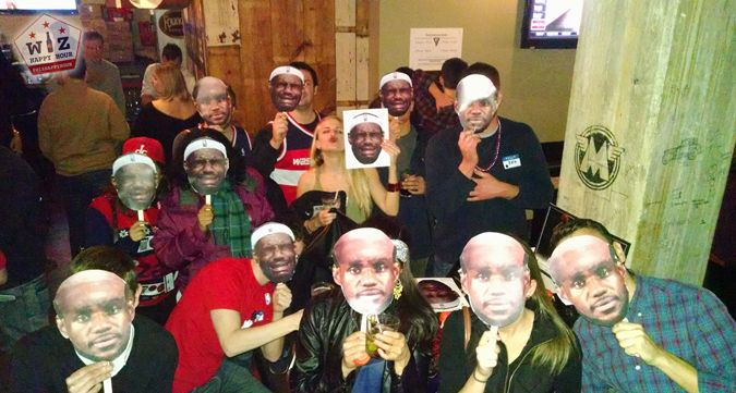 Trolling Lebron James before the Cleveland Cavs play the Wizards at Verizon Center during Iron Horse Taproom happy hour. You have bald Lebrons, crying Lebrons, and a girl doing a duck face kiss. Here's what happened...