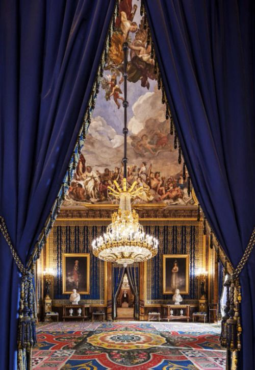 The Antechamber of King Charles III at the Royal Palace of Madrid