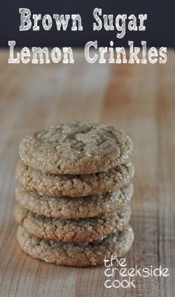 Chewy, rich and citrusy - Brown Sugar Lemon Crinkles - The Creekside Cook