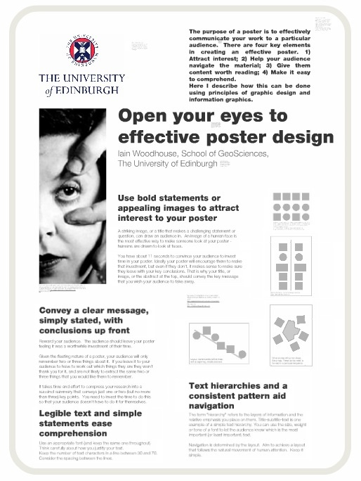 """The Art of the Scientific Poster"" by Iain Woodhouse"