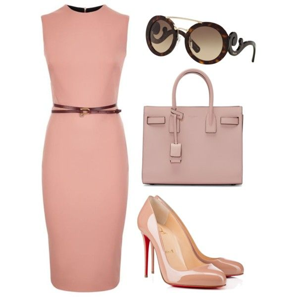 A fashion look from March 2016 featuring Victoria Beckham dresses, Christian Louboutin pumps et Yves Saint Laurent tote bags. Browse and shop related looks.