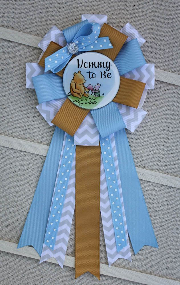 Winnie The Pooh Mommy To Be Corsage Winnie The Pooh Shower Pin