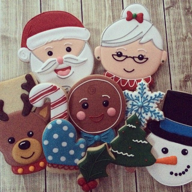 images of mrs santa cookies | 398 best images about Christmas/Winter Decorated Cookies on Pinterest