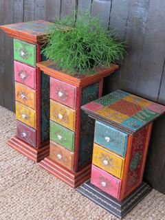 Painted Pillar Drawers: small