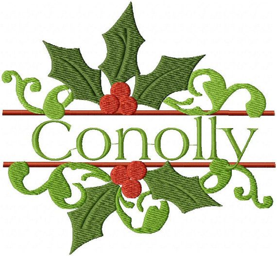machine embroidery design, holly name frame comes in 3 sizes 9 x 8 , 6 x 5 and 4 x 3 DOWNLOAD ASSISTANCE In the event that the link Etsy sends