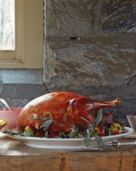 Roasted Heritage Turkey Thanksgiving Recipe - a layer of butter under the skin gives a crispy exterior